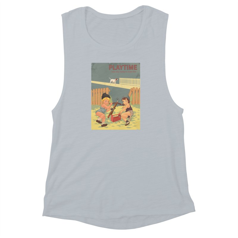 PLAYTIME Women's Muscle Tank by SPYKEEE's Artist Shop