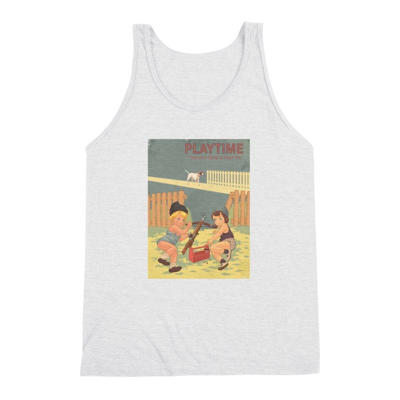 PLAYTIME Men's Triblend Tank by SPYKEEE's Artist Shop