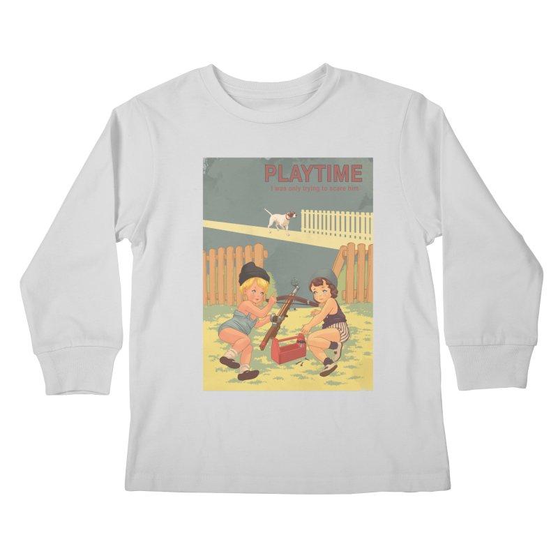PLAYTIME Kids Longsleeve T-Shirt by SPYKEEE's Artist Shop