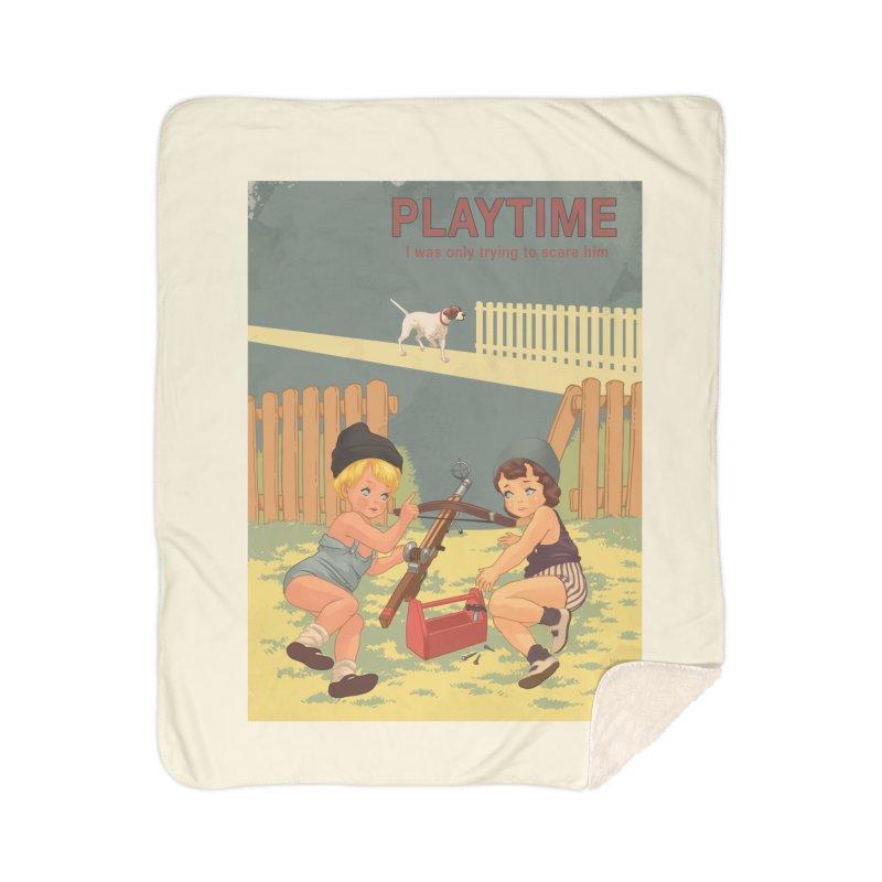PLAYTIME Home Sherpa Blanket Blanket by SPYKEEE's Artist Shop