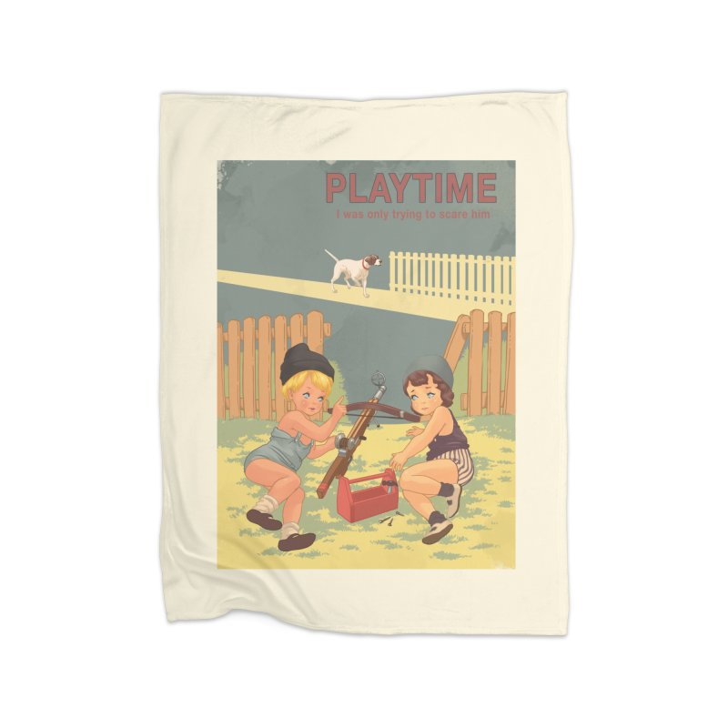 PLAYTIME Home Fleece Blanket Blanket by SPYKEEE's Artist Shop