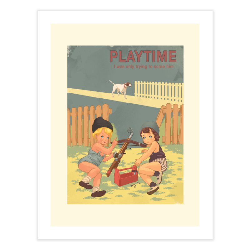 PLAYTIME Home Fine Art Print by SPYKEEE's Artist Shop
