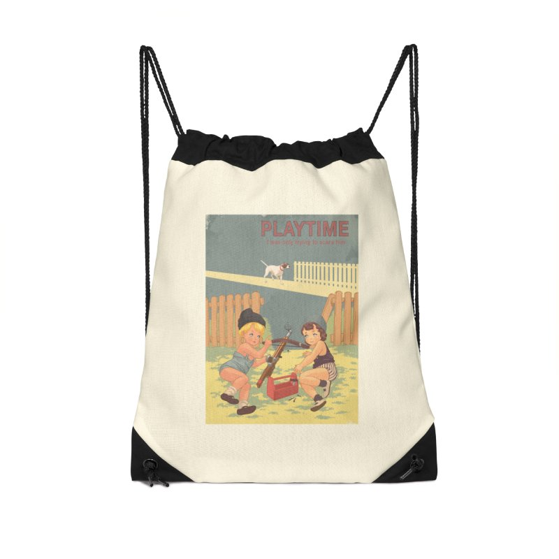PLAYTIME Accessories Drawstring Bag Bag by SPYKEEE's Artist Shop