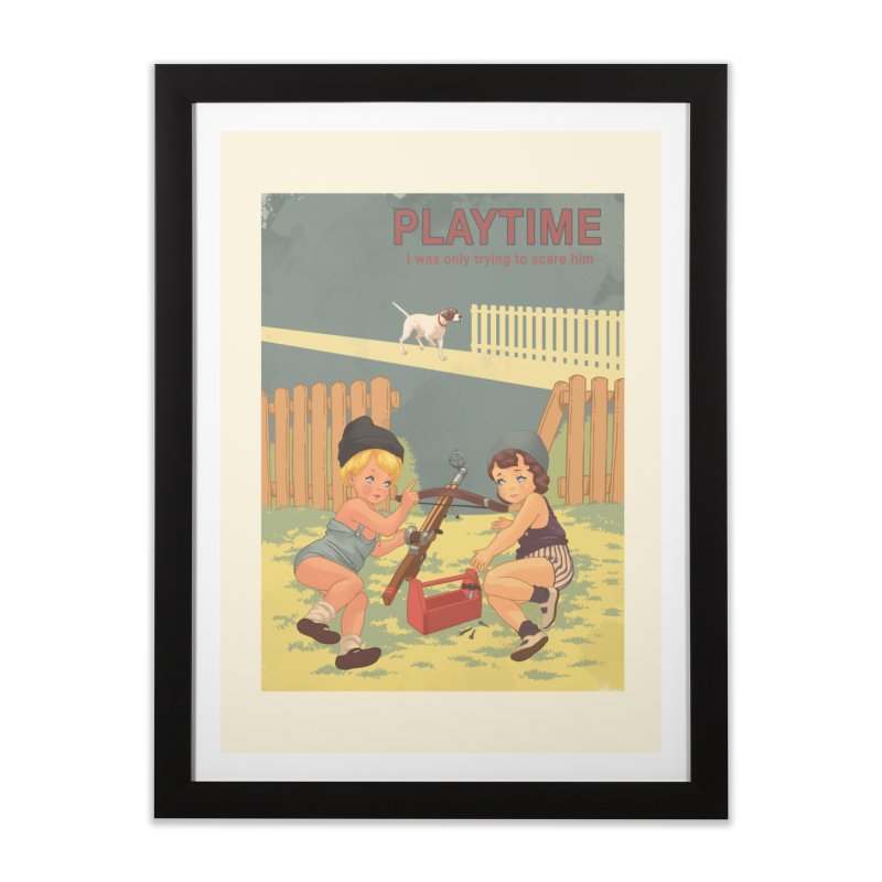 PLAYTIME Home Framed Fine Art Print by SPYKEEE's Artist Shop