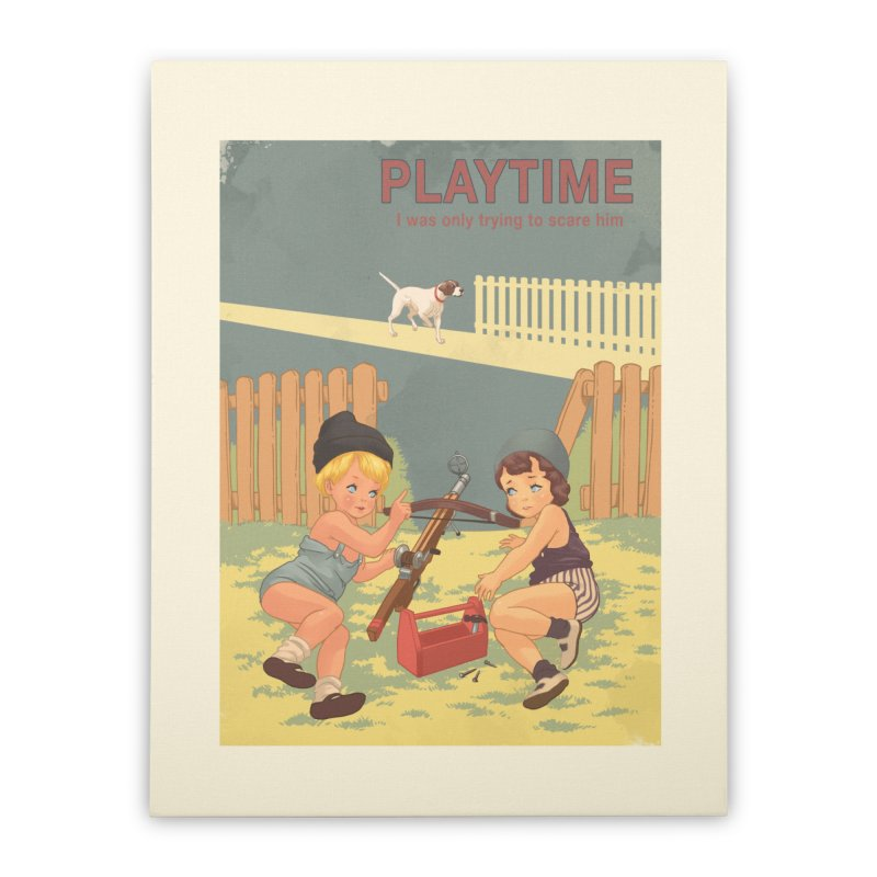PLAYTIME Home Stretched Canvas by SPYKEEE's Artist Shop
