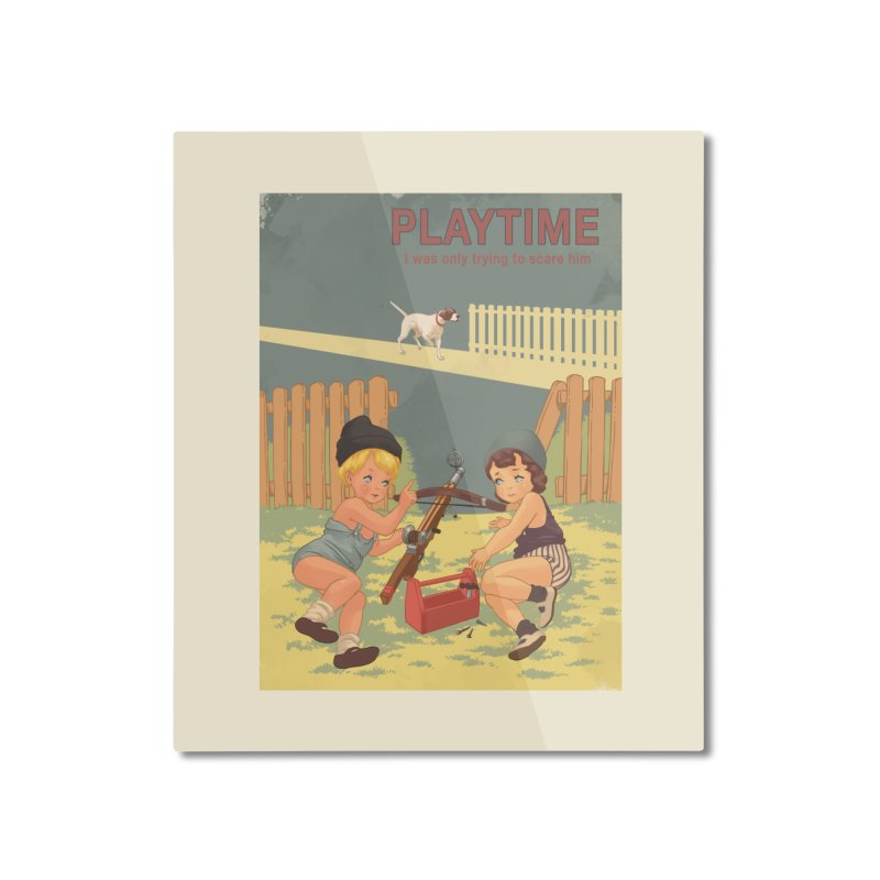 PLAYTIME Home Mounted Aluminum Print by SPYKEEE's Artist Shop