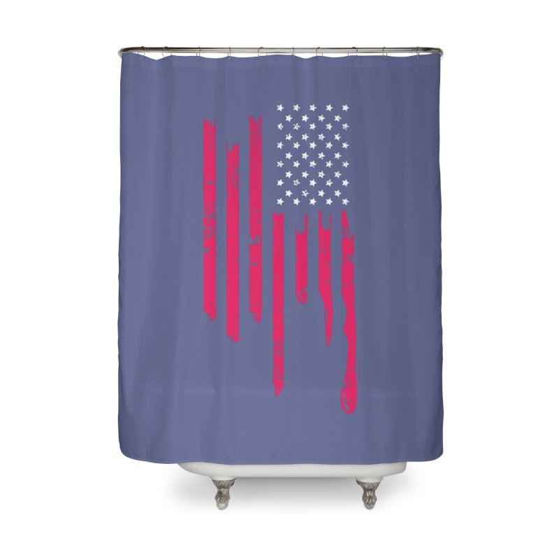Dripping Stripes Home Shower Curtain by spysee's Artist Shop