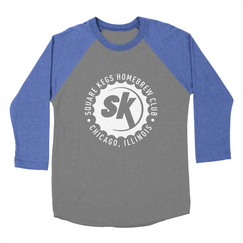 Square Kegs Shirt in Women's Baseball Triblend T-Shirt Blue Triblend Sleeves by squarekegs's Shop