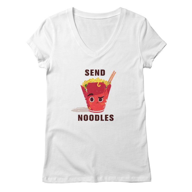 Send Noodles Women's V-Neck by sraderezo's Artist Shop
