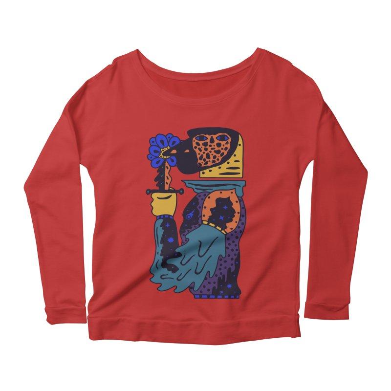 Wanderer at Night Women's Scoop Neck Longsleeve T-Shirt by Sretan Bor