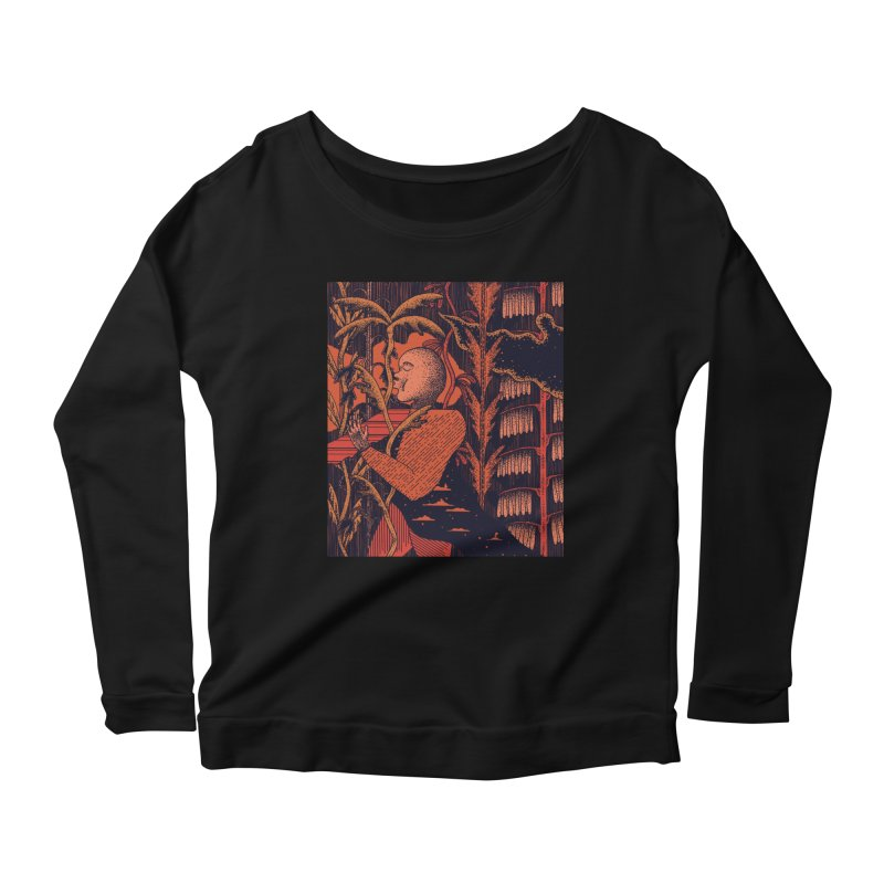 Night Kiss Women's Scoop Neck Longsleeve T-Shirt by Sretan Bor