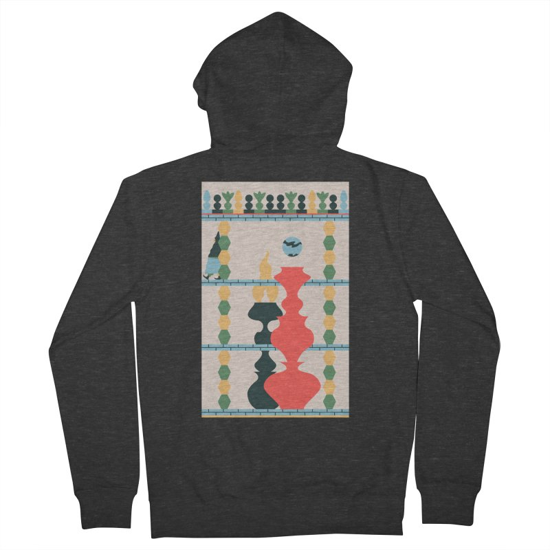 Keeper of the Light Men's French Terry Zip-Up Hoody by Sretan Bor