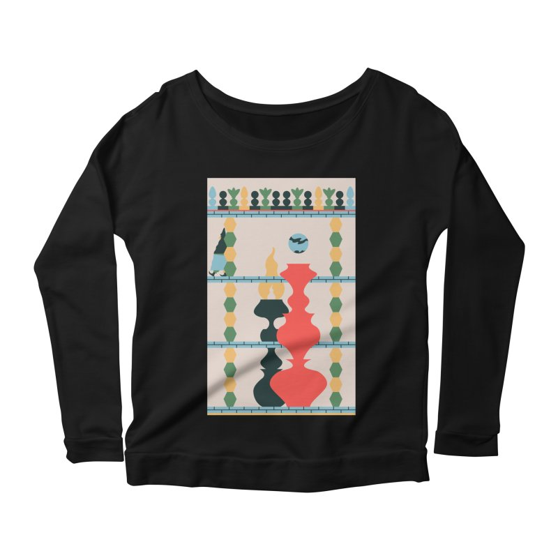 Keeper of the Light Women's Scoop Neck Longsleeve T-Shirt by Sretan Bor