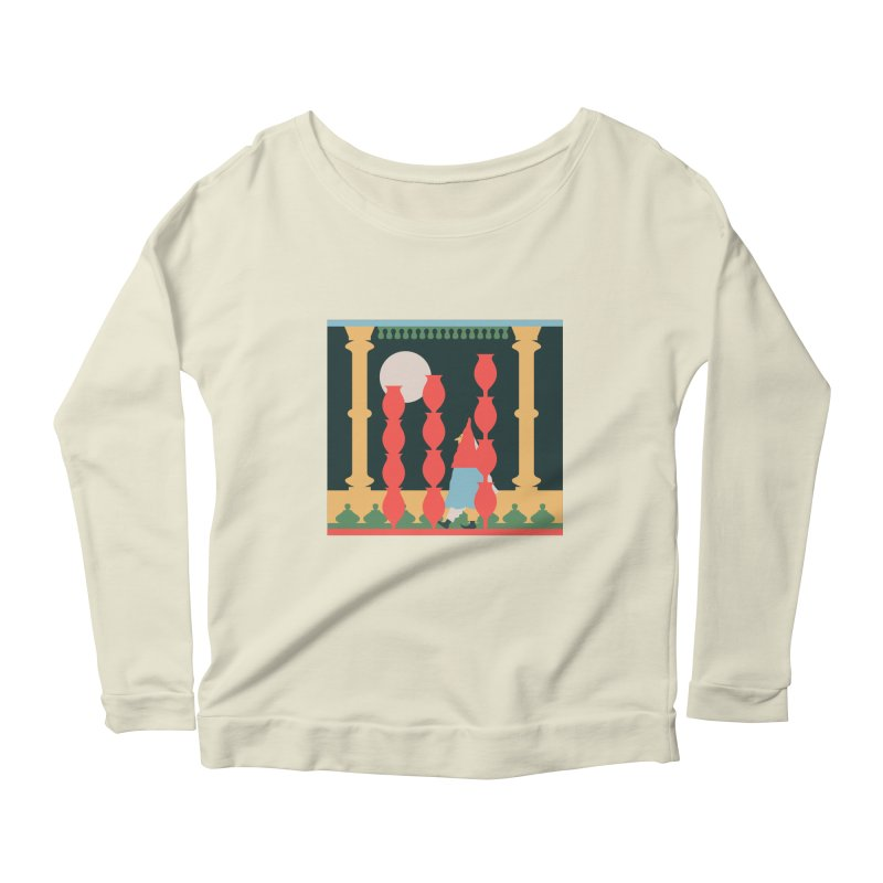 Night Music Women's Scoop Neck Longsleeve T-Shirt by Sretan Bor