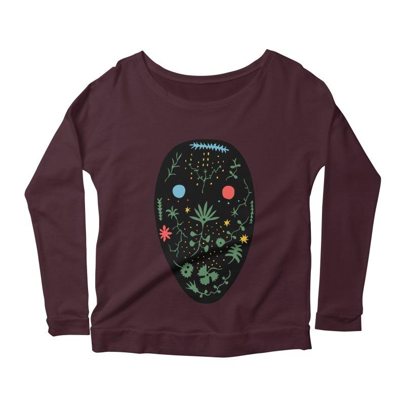 Night Spirit Women's Scoop Neck Longsleeve T-Shirt by Sretan Bor