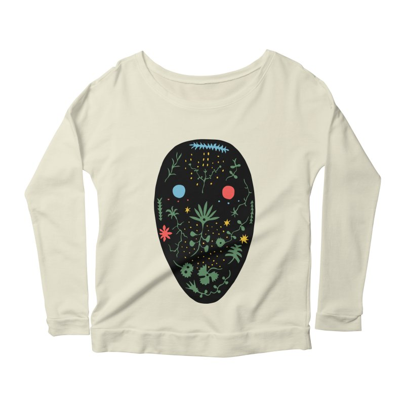 Night Spirit Women's Scoop Neck Longsleeve T-Shirt by Sretan Bor