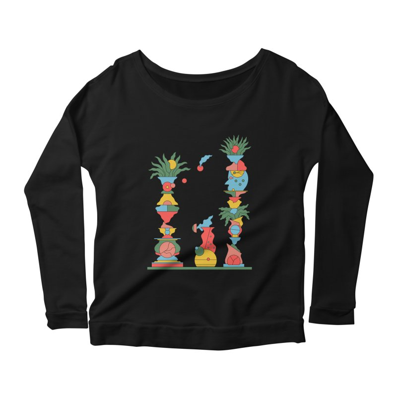 Sweet Talk II Women's Scoop Neck Longsleeve T-Shirt by Sretan Bor