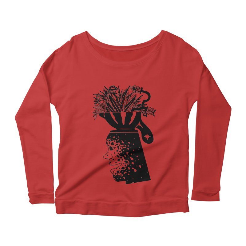 Full Grown Man Women's Scoop Neck Longsleeve T-Shirt by Sretan Bor