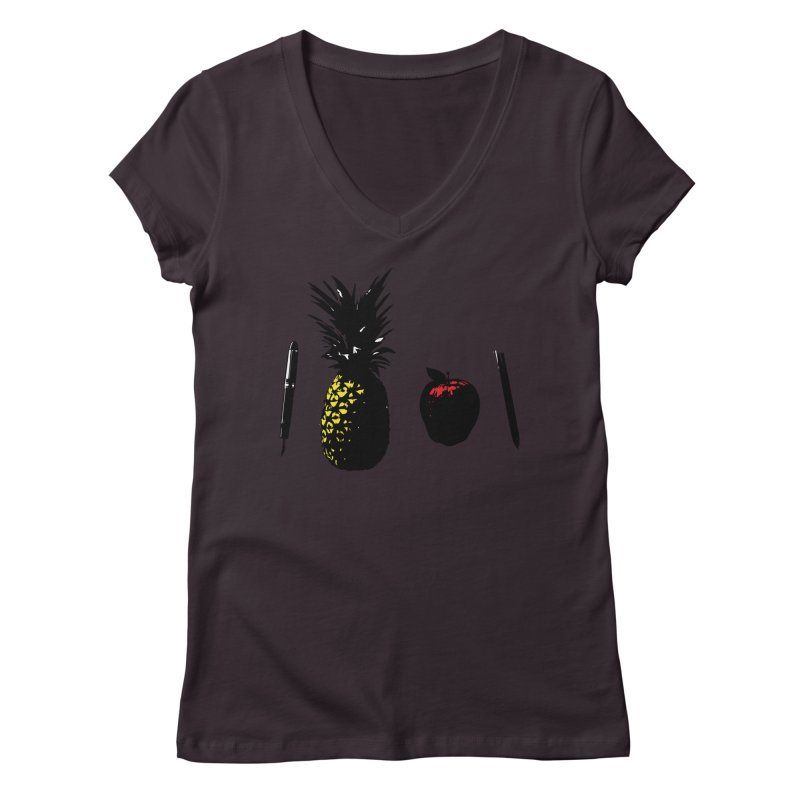 uh there is a pineapple Women's V-Neck by shutter shades facemask