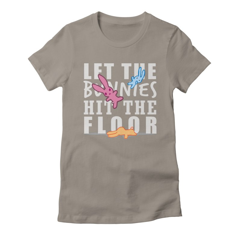 let the bunnies hit the floor Women's Fitted T-Shirt by shutter shades facemask