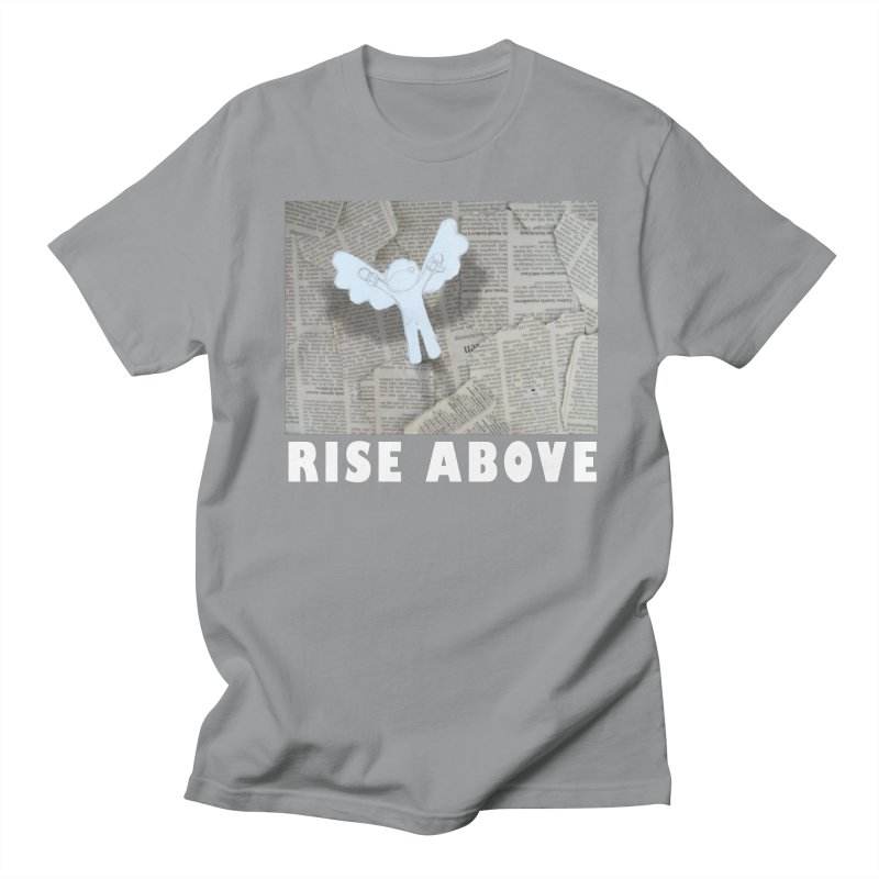 rise above Men's T-shirt by shutter shades facemask