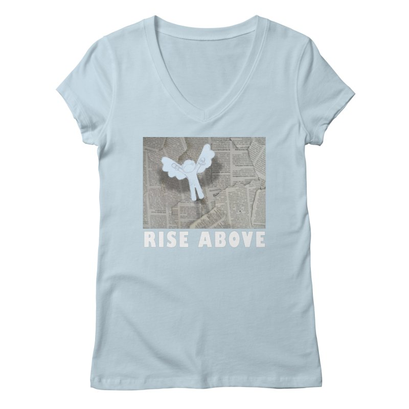 rise above Women's V-Neck by shutter shades facemask