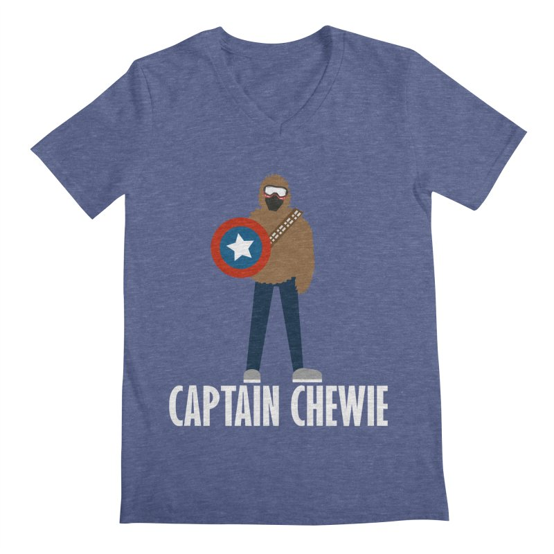 Captain Chewie Men's V-Neck by shutter shades facemask