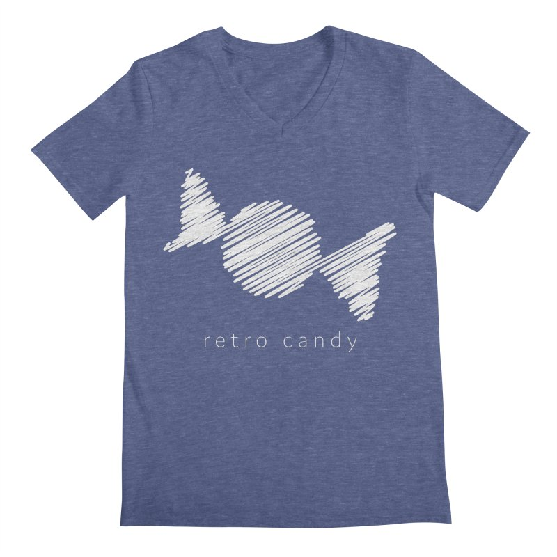 Retro Candy Squiggly Men's V-Neck by shutter shades facemask