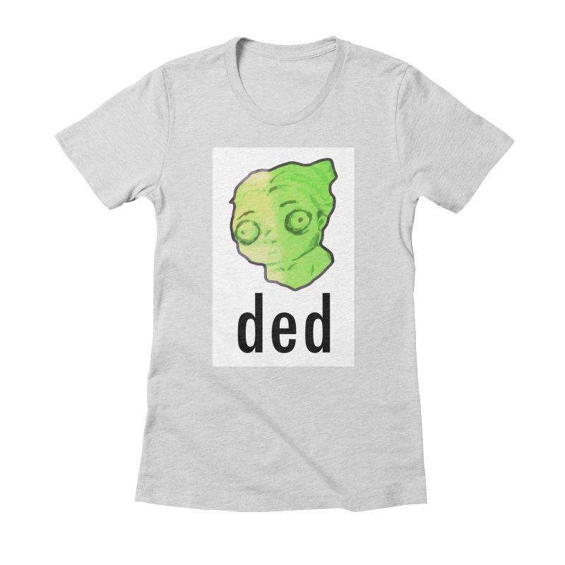 ded Women's Fitted T-Shirt by shutter shades facemask