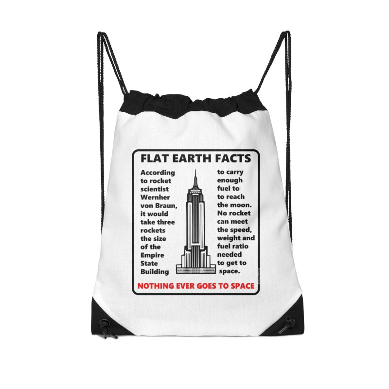 Empire State Building Accessories Drawstring Bag Bag by Flat Earth Shop