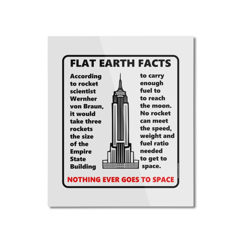 Empire State Building Home Mounted Aluminum Print by Flat Earth Shop