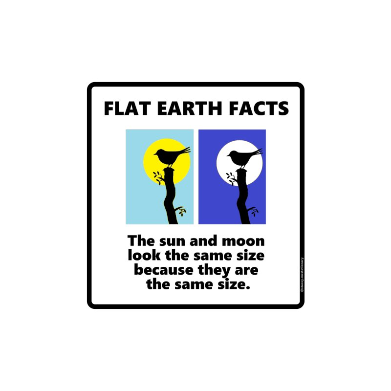 Sun and Moon by Flat Earth Shop