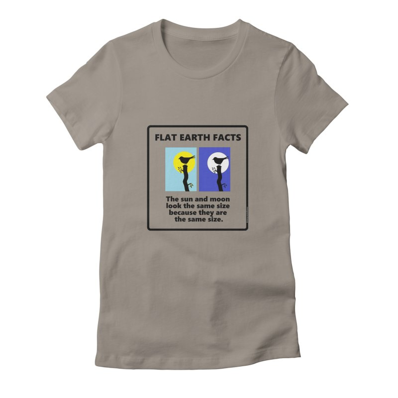Sun and Moon Women's Fitted T-Shirt by Flat Earth Shop