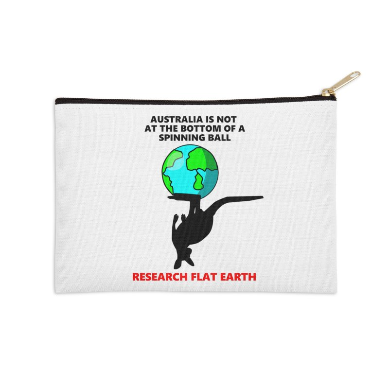 Australia Accessories Zip Pouch by Flat Earth Shop