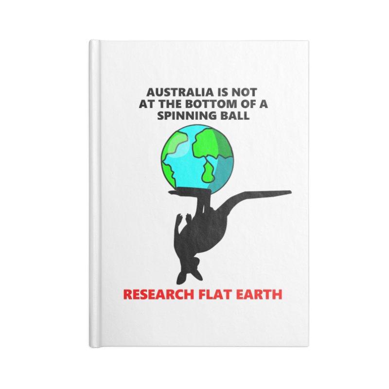 Australia Accessories Blank Journal Notebook by Flat Earth Shop