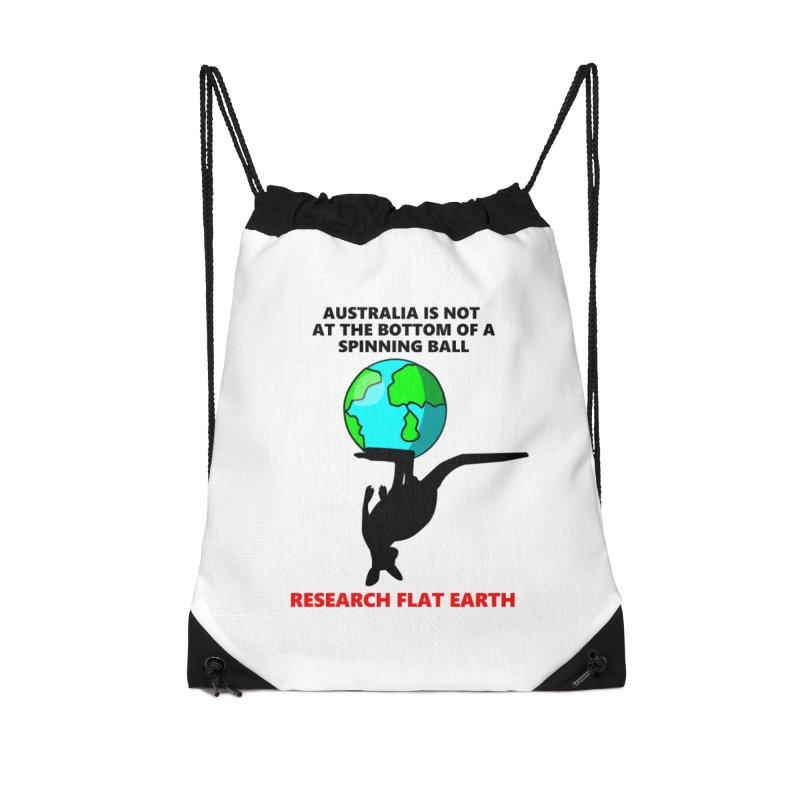 Australia Accessories Drawstring Bag Bag by Flat Earth Shop