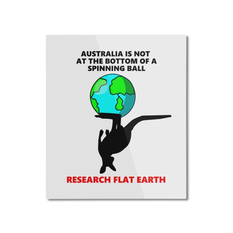 Australia Home Mounted Aluminum Print by Flat Earth Shop