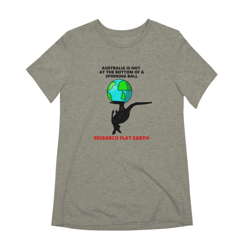 Australia Women's Extra Soft T-Shirt by Flat Earth Shop