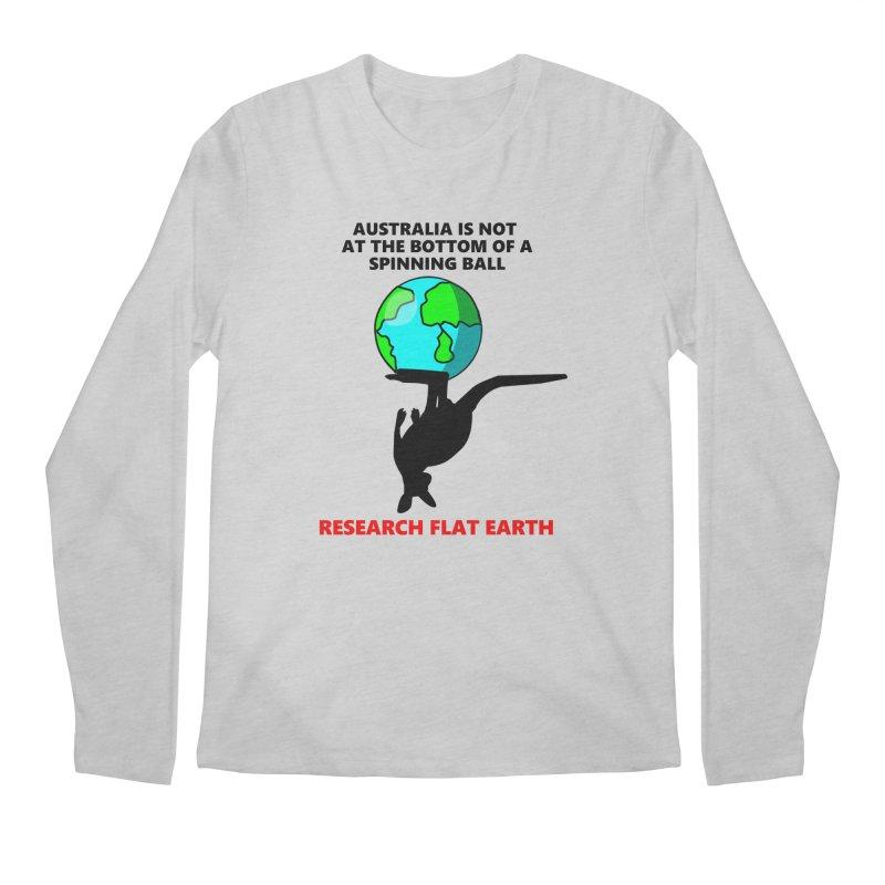 Australia Men's Regular Longsleeve T-Shirt by Flat Earth Shop