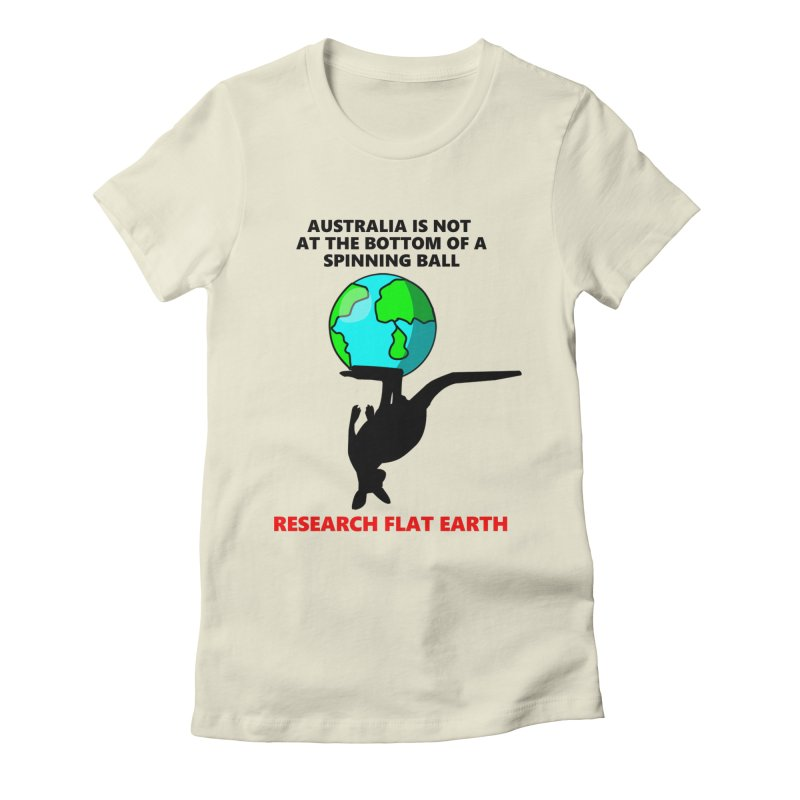 Australia Women's Fitted T-Shirt by Flat Earth Shop