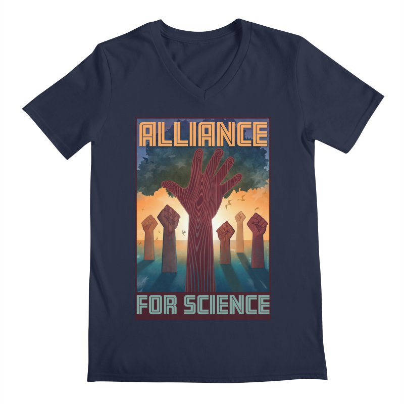 Alliance for Science Men's V-Neck by Stacy Kendra | Artist Shop