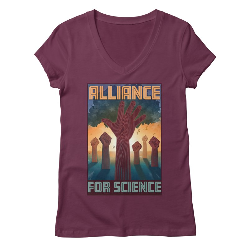 Alliance for Science Women's V-Neck by Stacy Kendra | Artist Shop
