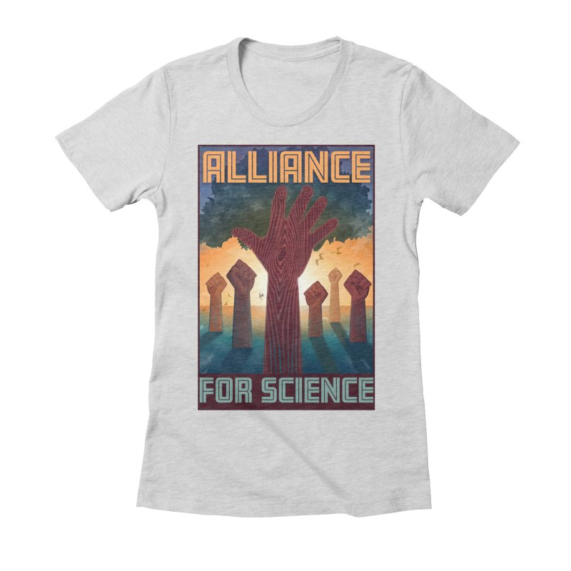 Alliance for Science Women's Fitted T-Shirt by Stacy Kendra | Artist Shop