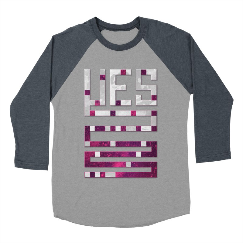 Yes/Lies Men's Baseball Triblend T-Shirt by Stacy Kendra | Artist Shop