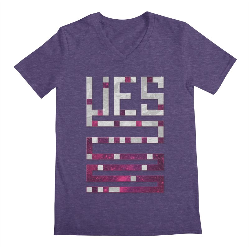Yes/Lies Men's V-Neck by Stacy Kendra | Artist Shop