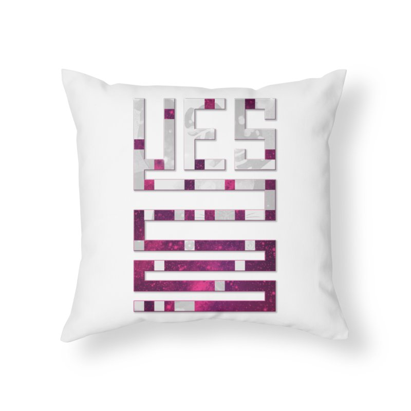 Yes/Lies Home Throw Pillow by Stacy Kendra | Artist Shop