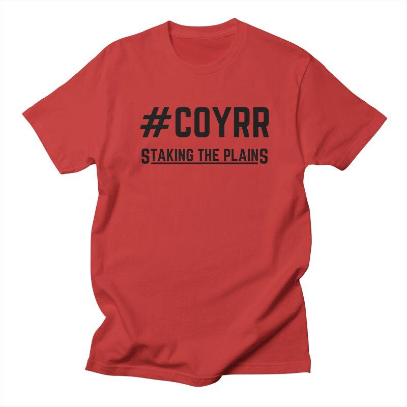 COYRR (Black) Men's Regular T-Shirt by Staking The Plains