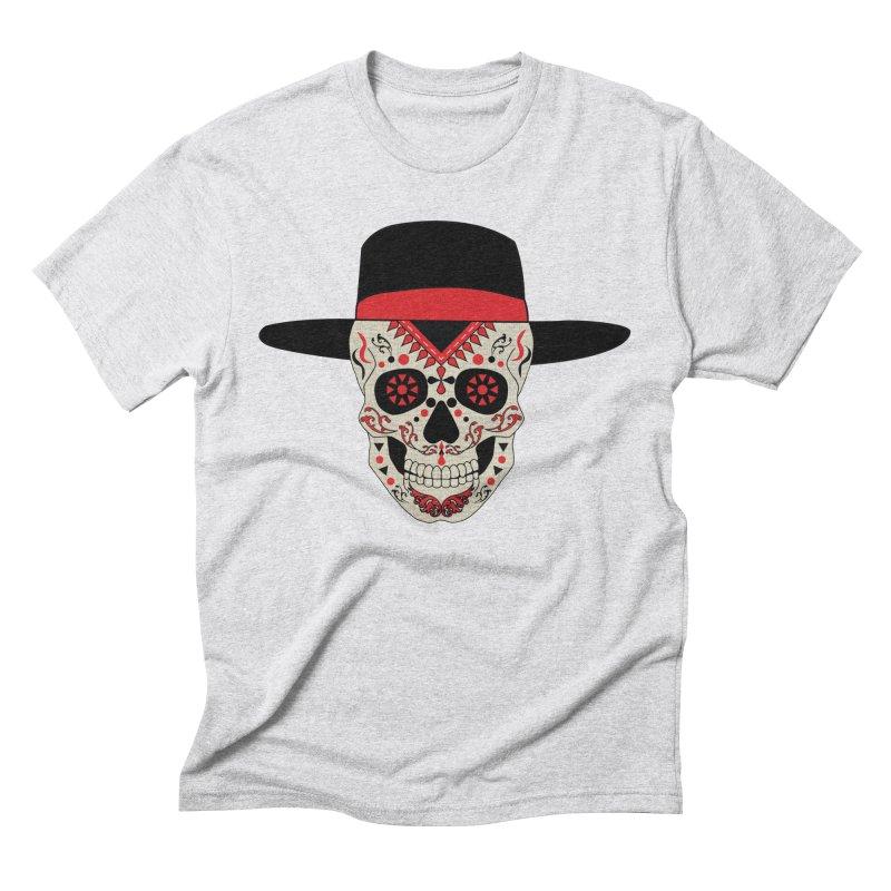 STP El Dia de Los Muertos Men's Triblend T-Shirt by Staking The Plains
