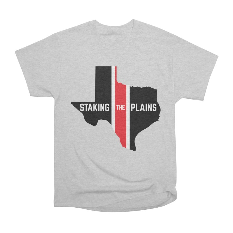 Staking The Plains Vertical Stripe State of Texas Men's T-Shirt by Staking The Plains