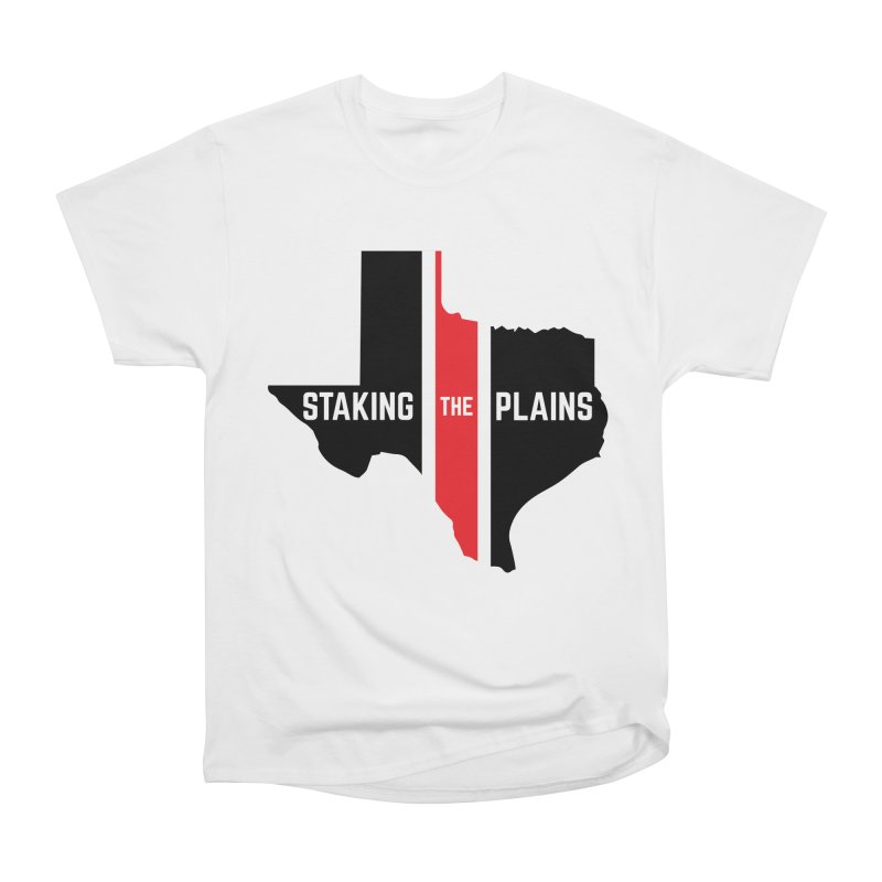 Staking The Plains Vertical Stripe State of Texas Women's Heavyweight Unisex T-Shirt by Staking The Plains